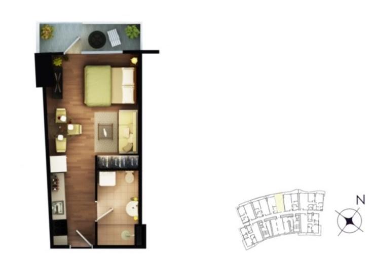 Studio - 34-44 sqm
