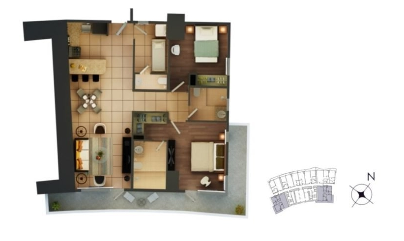 2-bedroom 98-112 sqm